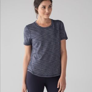 Lululemon Purple Meant to Move Short Sleeve Top